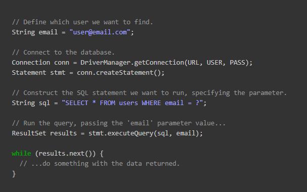 Safe way of running SQL in JDBC